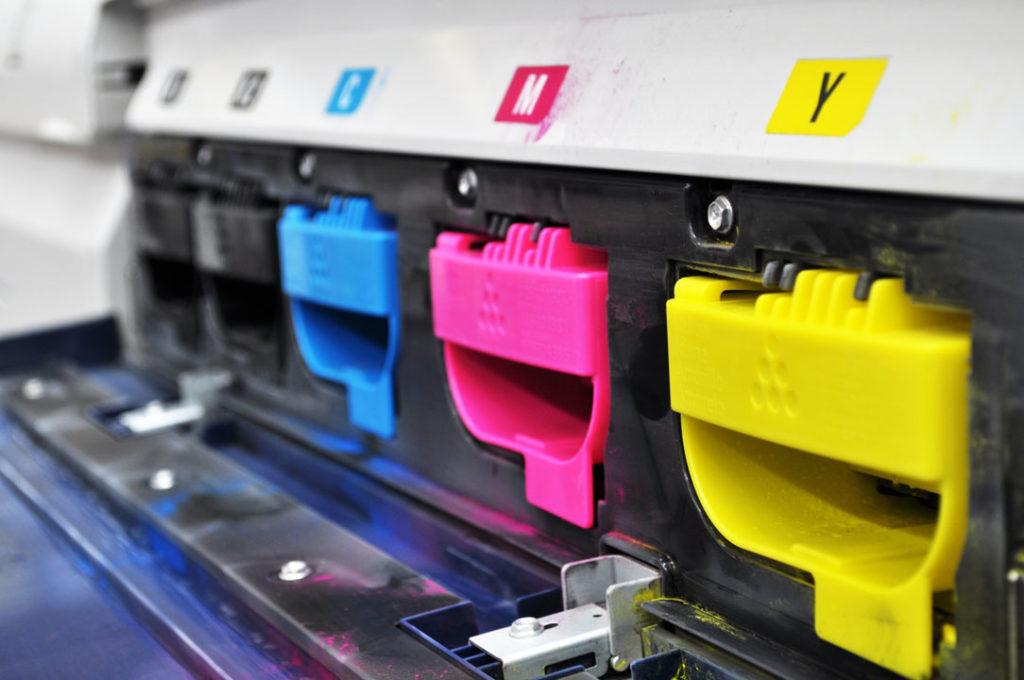 CMYK colour print